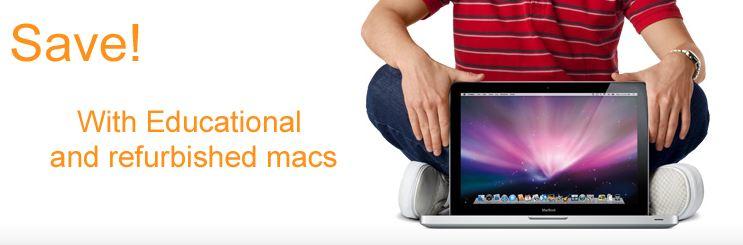 Refurbished and educational Macs